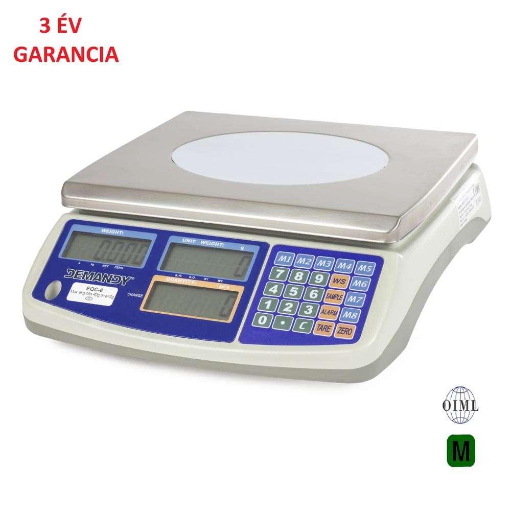 EQC hitelesített darabszámláló mérleg 3 kg-6 kg-15 kg