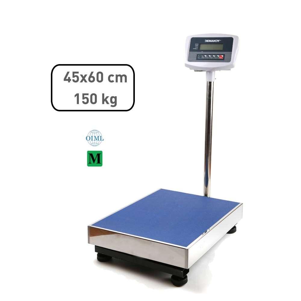 TCS-B hitelesített raktári  mérleg 150 kg, 45x60cm
