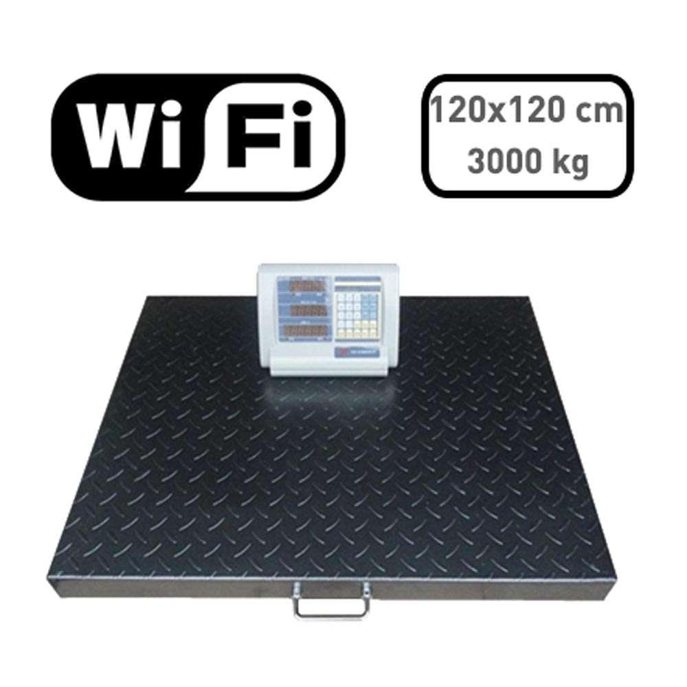 Raktári lapmérleg 3000 kg Wi-fi kijelzővel