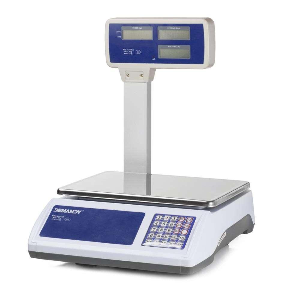 ACS-L5 tornyos hitelesített bolti mérleg-30kg, LCD kijelző