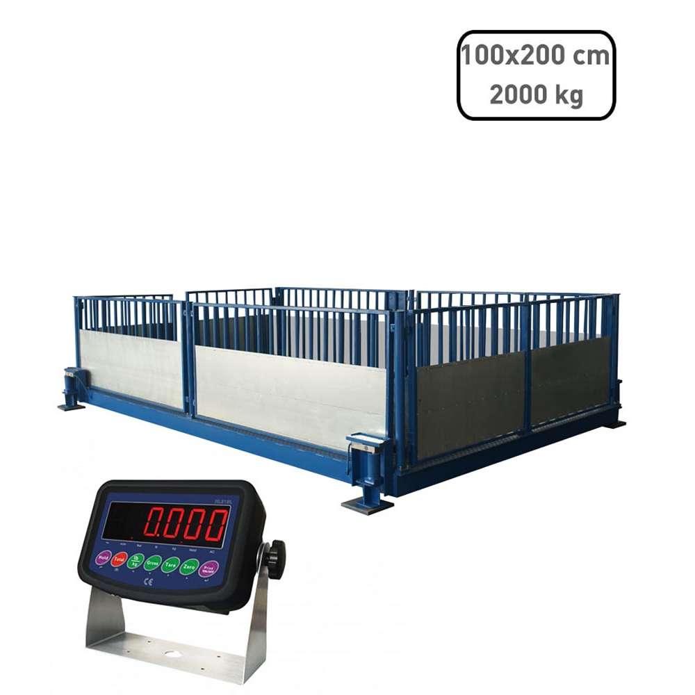 Állatmérleg 100x200x90cm - 2t védőlemezzel