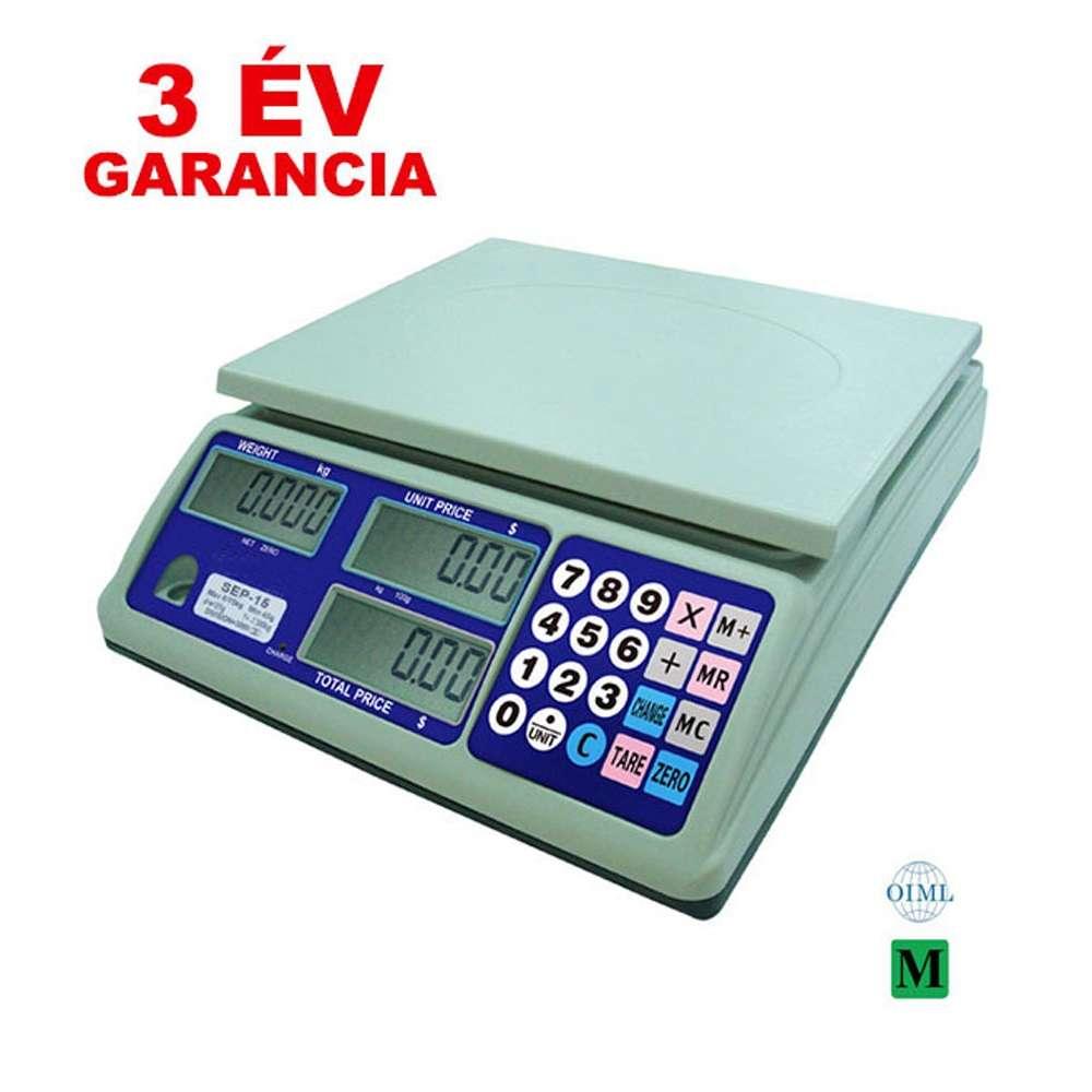 Demandy SEP-15 hitelesített bolti mérleg - 15kg