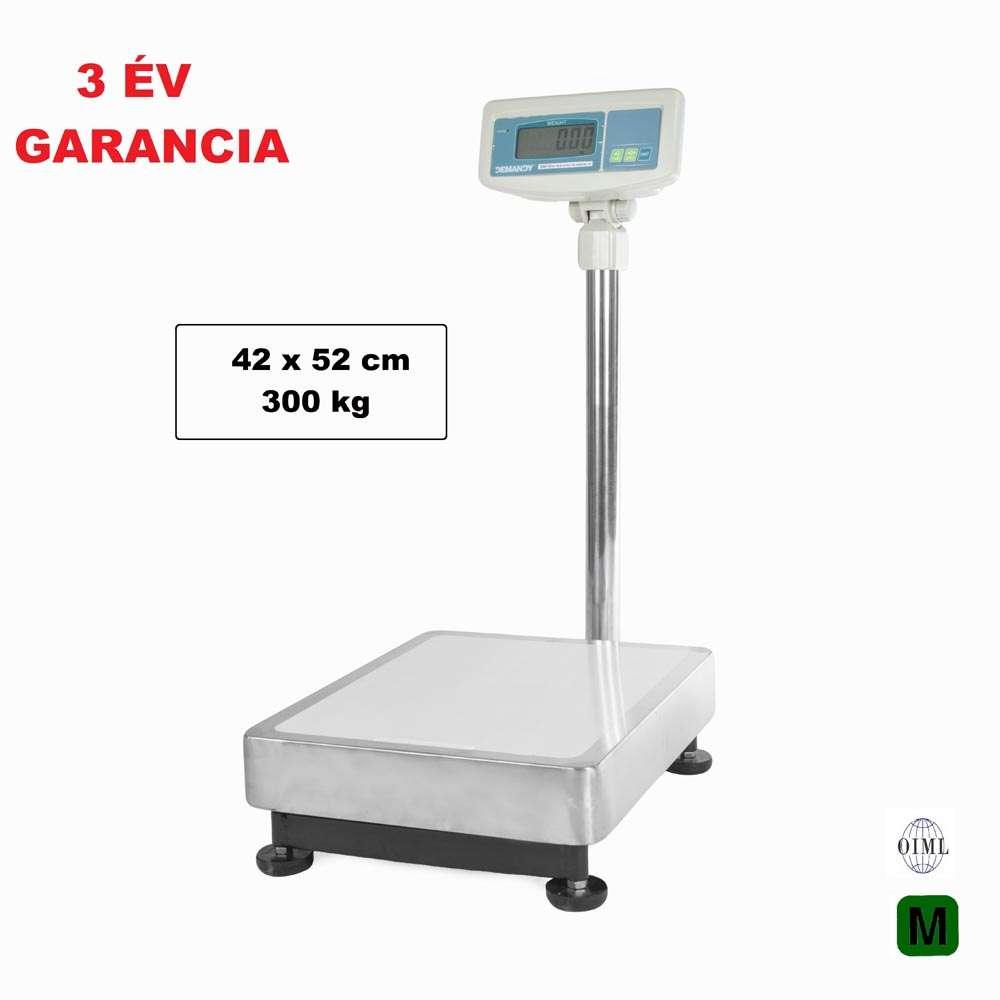Demandy SSW 300 kg-os 42x52 cm hitelesített raktári mérleg kölcsönzés/nap